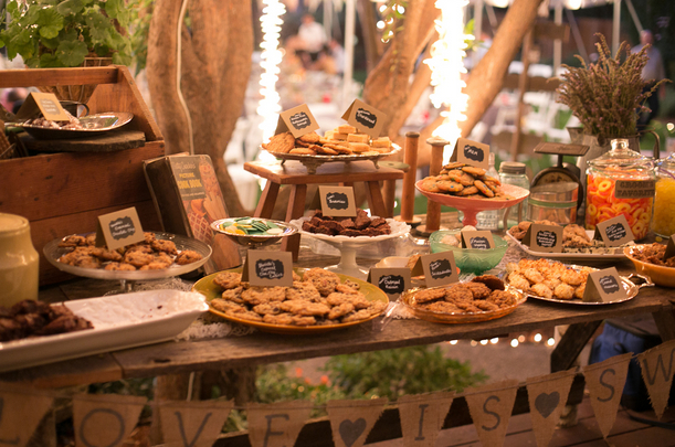 Sarah's Backyard BBQ Wedding Cookie Table