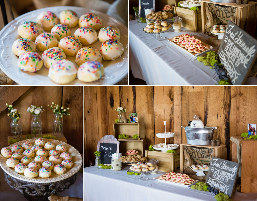 wedding cookie table in eastern washington