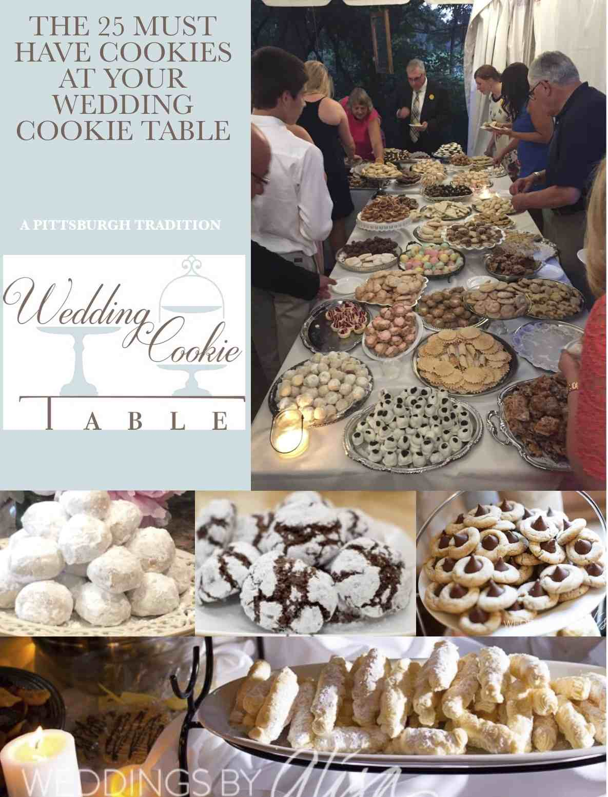 wedding cookies are the pride and joy of the families who baked them and the bride and groom who showcase them the founders of wedding cookie table joined
